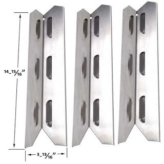 Bbq Parts Factory in USA: BBQ-PRO Stainless Steel Heat Shield | Replacement ...