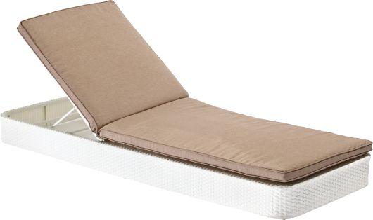 Bain de soleil design SUNNY pour une détente totale. La conception de ce bain de soleil est en alu renforcé pour la structure et en résine tressée blanche traitée extérieur pour le revêtement. Ce bain de soleil SUNNY comporte également un coussin épais pour un confort moelleux. La base comporte des bords arrondis pour ne pas se heurter les pieds nus. L'appui-tête est réglable par crémaillère. Ce bain de soleil est empilable. Tout le confort pour aménager les bords d'une piscine, une plage…