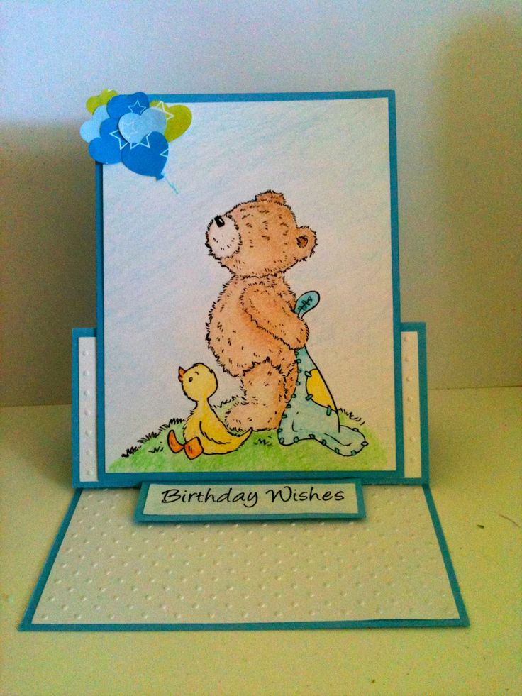 Popcorn Bear, Shooting star stamps, Crafters Companion, Cuttlebug, Embossing, Swiss Dots, handmade, card