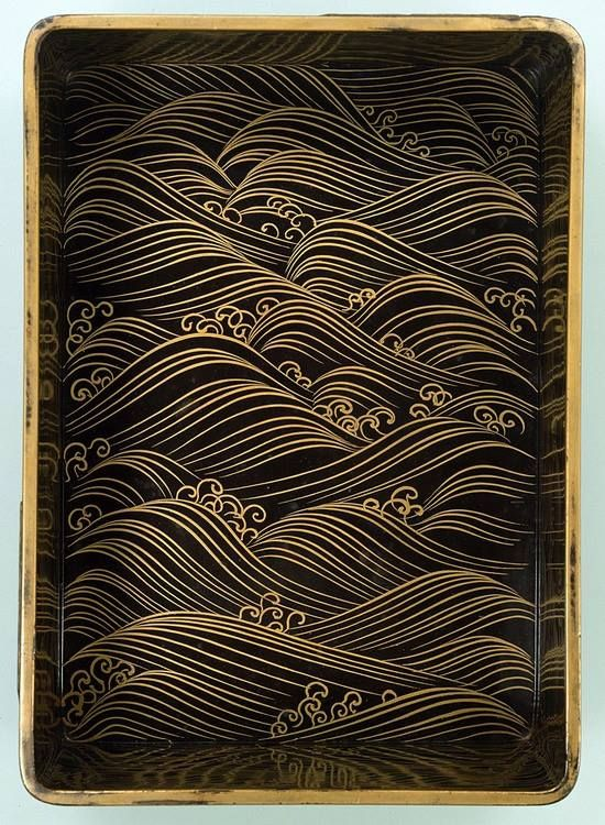 Writing Box with Eight Bridges (lacquered wood) by OGATA Korin, 18th century, National Treasure of Japan