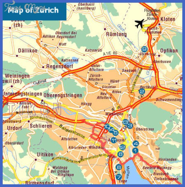 awesome Switzerland Map Tourist Attractions