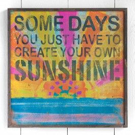 Make your own sunshine with the Some Days Box Sign. This #sign is a great accent and conversation piece for your room. Send positive messages everyday. #dormify http://www.dormify.com/new/some-days-box-sign