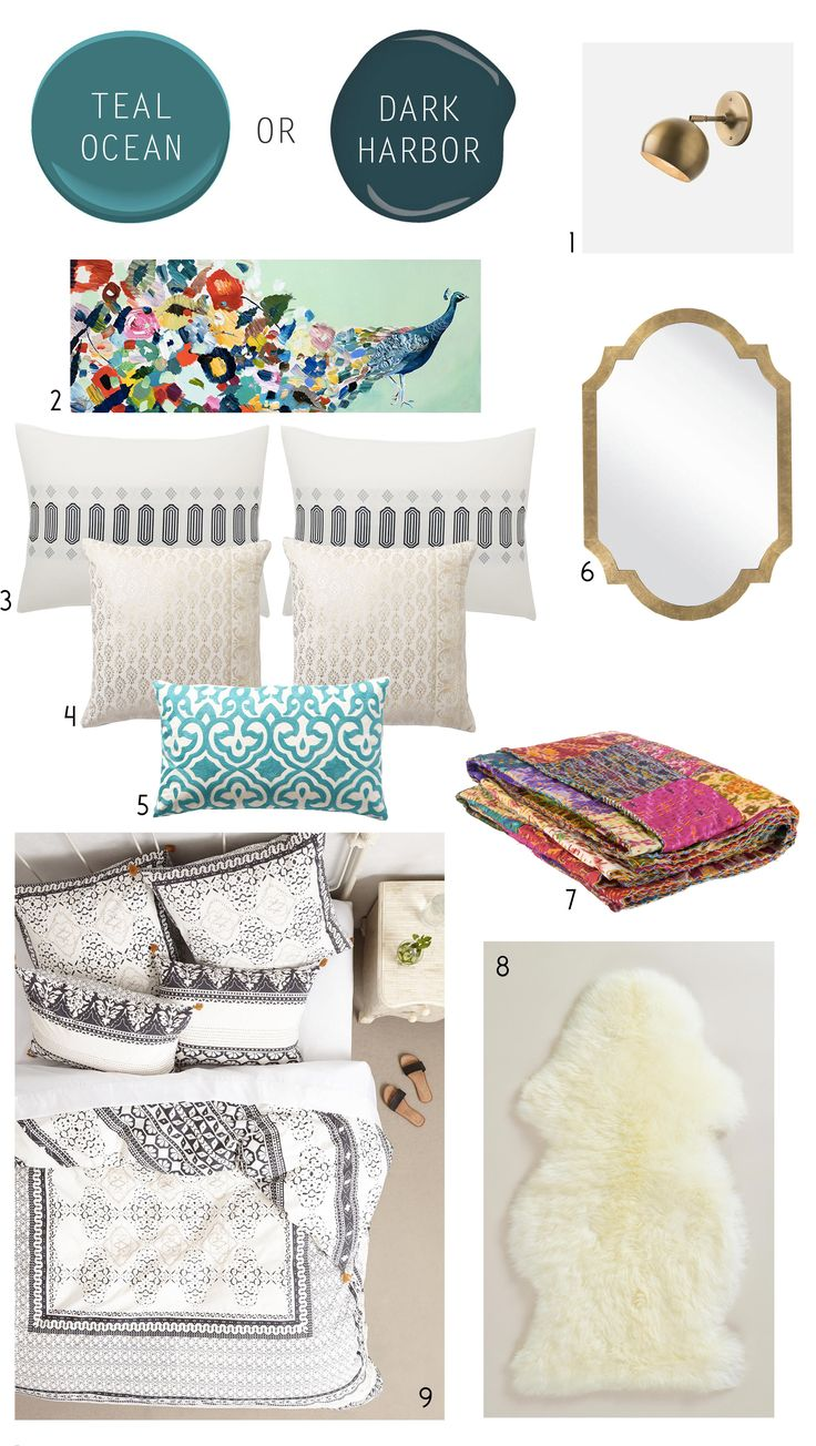 teal bedroom inspiration mood board3