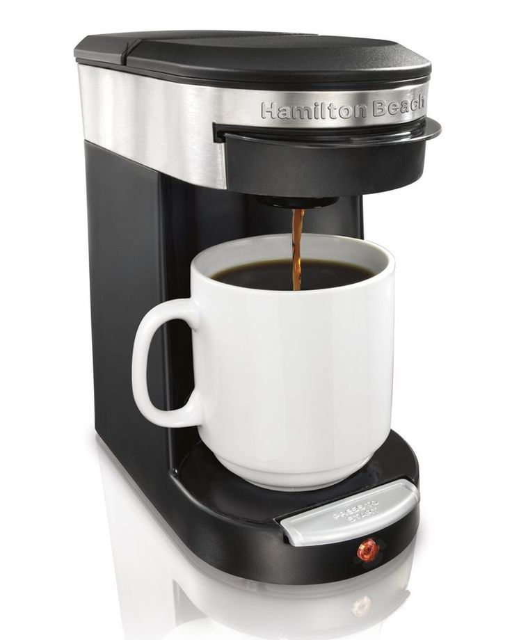 Hamilton Beach Personal 1 One Cup Pod Brewer Coffee Maker Single Serve up 12 oz #HamiltonBeach