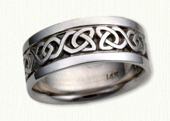 Celtic Dara Knot Wedding Band Available In Any Metal And Width
