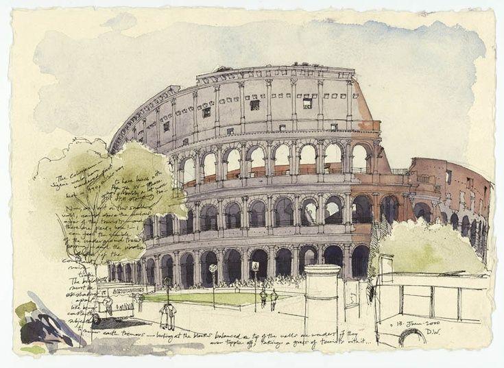 Colosseum, Rome by Daniel Wrightson