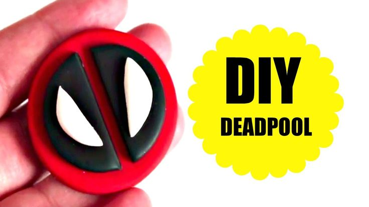 DIY - DEADPOOL - BISCUIT - POLYMER CLAY - MASSA DE MODELAR - TUTORIAL