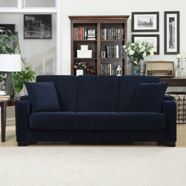 Round Out Your Favorite Seating Space In Versatile Style With This Wood Frame Convertible Sleeper Sofa Founded Upon Four Legs