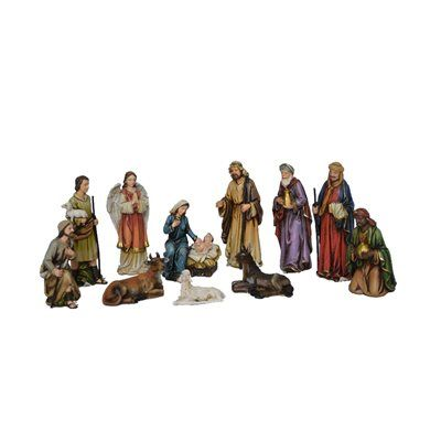 Hi-Line Gift 81891 5-in 11-Piece Nativity Set with Three Wise Men