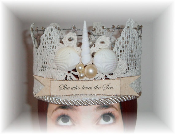 crowns: Diy Ideas, Crafts Ideas, Queen, Birthday Crowns, Sea Birthday, Awesome Crowns, Shells Crowns, Crafts Crowns, Shells Ideas