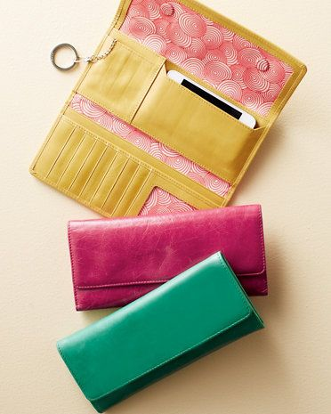 Hobo Sadie Leather Wallet - but which color?  I love them all!