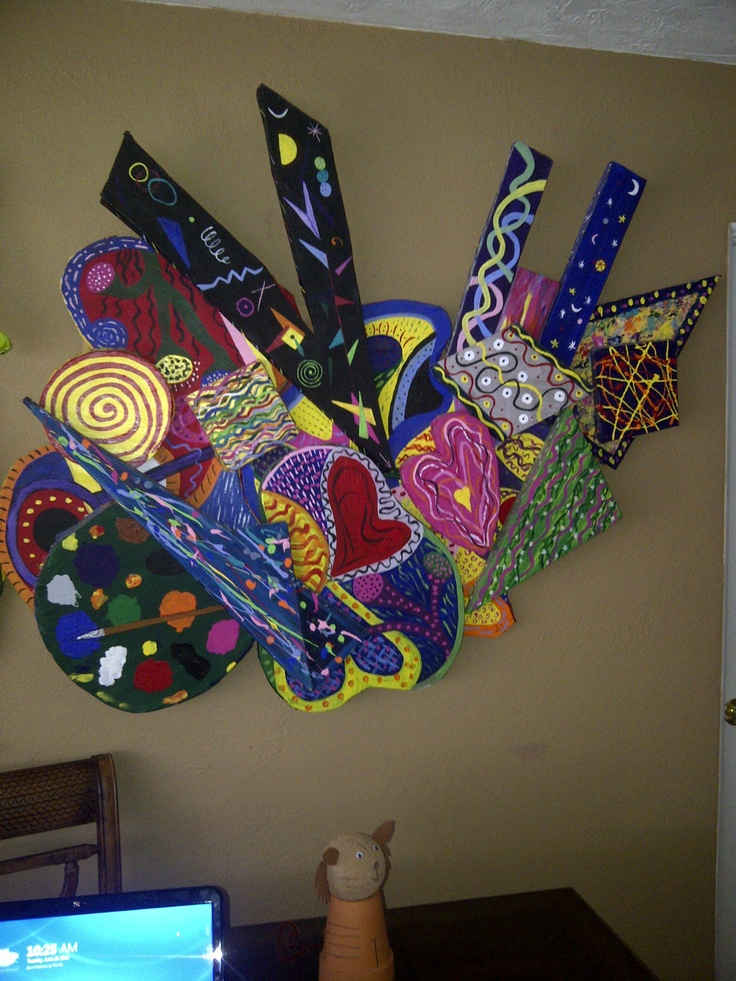 Huge Styrofoam Wall Art My First Easy Canvas Painting