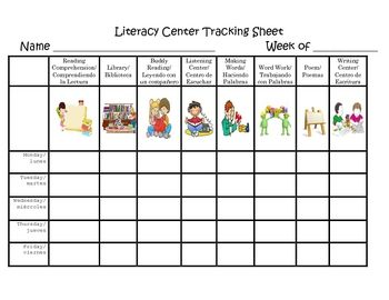 Easy student filled tracking sheet. Use this sheet to track what centers your students are working at all week. It's easy to use and the graphics h...