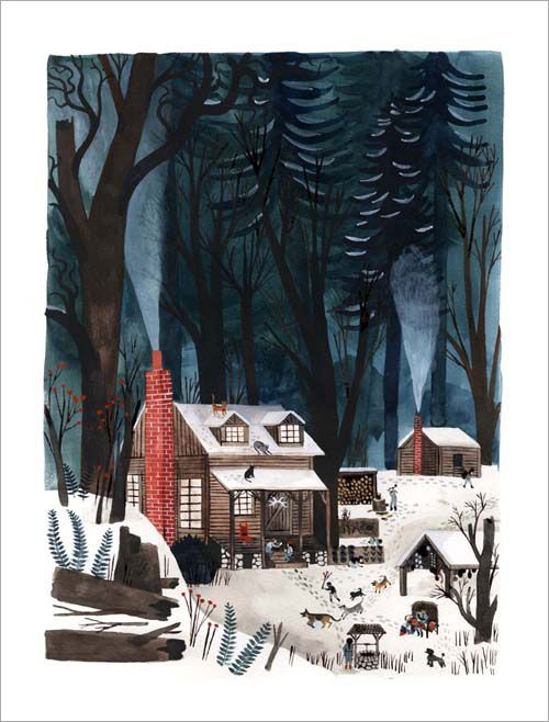 """Carol's Cottage"" Print by Carson Ellis/ I don't know why I find her so intriguing."