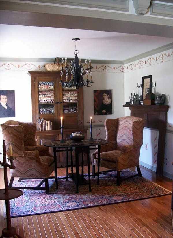 59 Best Images About Colonial Or Early American Living Rooms On Pinterest P