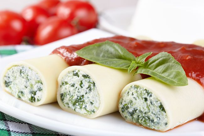 Cannellonis chèvre, ricotta et menthe - WeCook