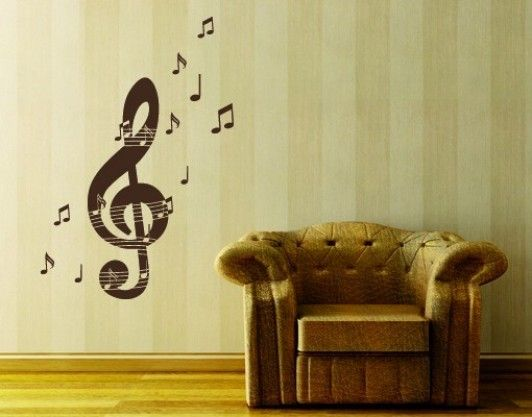 Best Etsy Shop Musical Themed Decor Images On Pinterest Music - Custom vinyl wall decals falling off