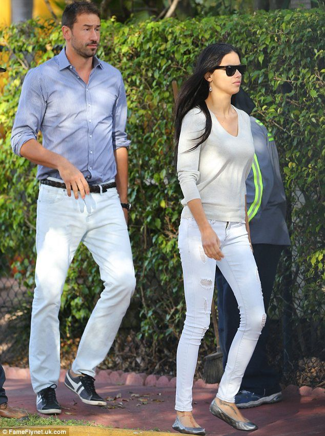 Adriana Lima and her husband Marko Jaric attended their daughter Valentina's school play in Miami on Thursday