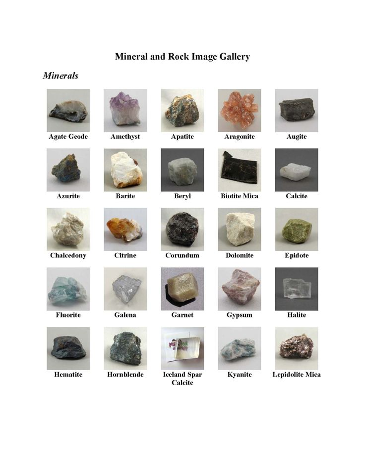 identification of rocks and minerals pdf