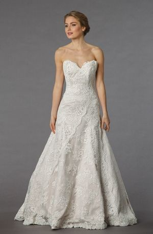 Sweetheart A-Line Wedding Dress  with Natural Waist in Lace. Bridal Gown Style Number:32835258