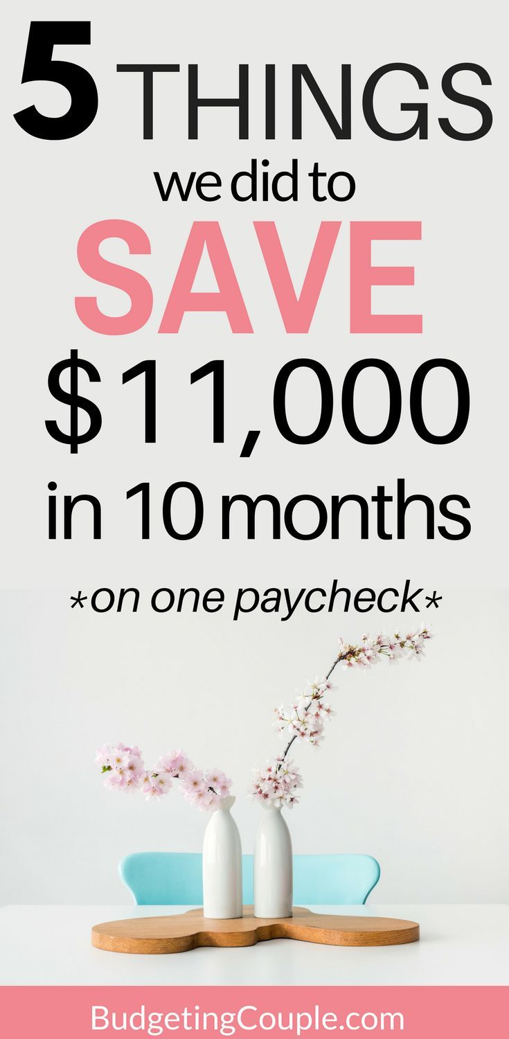 How to Save Morey in Your 20's | How We Saved Over $11,000 in 10 Months On One Paycheck in our 20's! | Save Money | Save Money in Your 20s | How to Save Money | Money Saving Tips| BudgetingCouple.com  #Savemoney #howtosavemoney #budgetingcouple