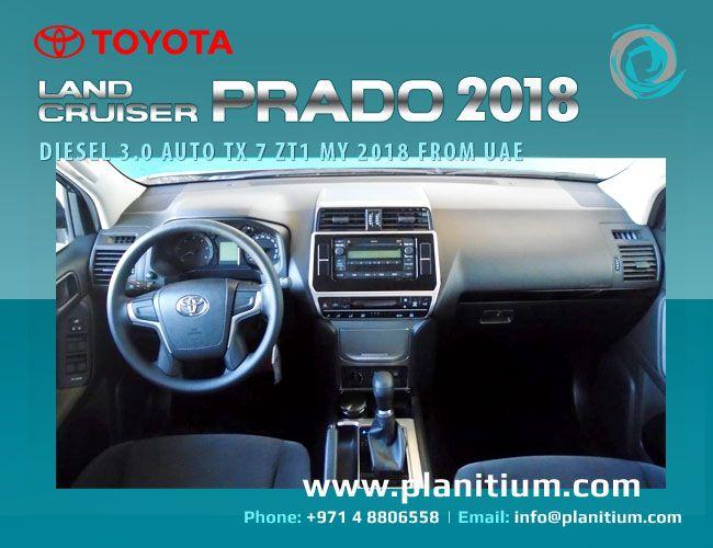 Toyota Prado 3.0 Diesel Auto Full Suspension SFX Interior. Export brand new Toyota Cars from Dubai, UAE. #ToyotaPrado #ToyotaPrado2018Diesel #LandCruiserPrado2018