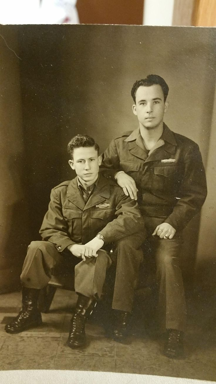 "My Great Grandpa Lambert ""Burt"" Neeley (Right) and his friend Pat Patterson (Left) in Japan during WW2"