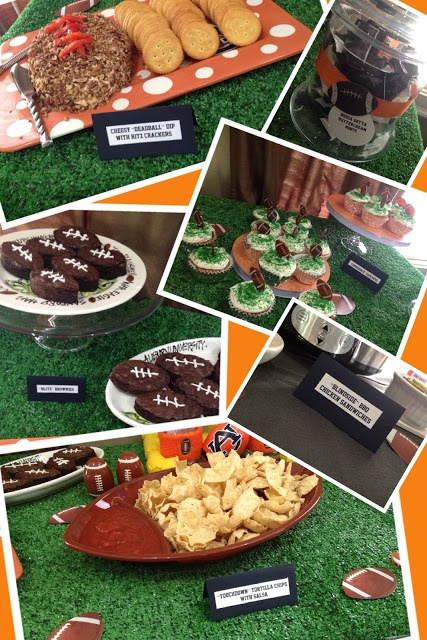 Football Birthday Party ideas (many could be for a dad, too). Or Super Bowl party