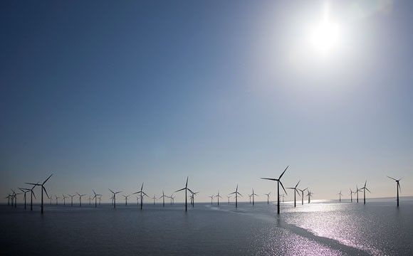 World's Cheapest Offshore Wind Farm to Power 600,000 Homes.  Sweden's Vattenfall set a world record for the lowest price ever paid for offshore wind power. The state-owned energy company bid EUR 49.9 (or $54) per megawatt-hour to develop the Danish Kriegers Flak, a 600-megawatt offshore wind farm in the Baltic Sea, about 15 kilometers off the Danish island Møn. Kriegers Flak. For comparison, the average cost of offshore wind is around $126 per megawatt-hour.