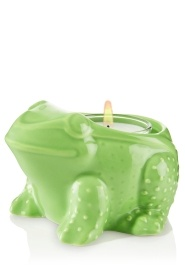 Green Frog Ceramic Candle Holder -- NEED this in my life! too cute for words!