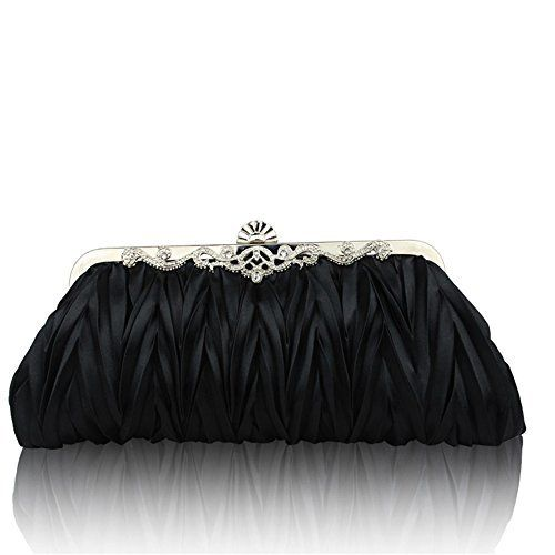 New Trending Clutch Bags: Kingluck Silk Cocktail Evening Handbags/ Clutches in Gorgeous Silk More Colors Availabl (black). Kingluck Silk Cocktail Evening Handbags/ Clutches in Gorgeous Silk More Colors Availabl (black)   Special Offer: $8.90      422 Reviews Gender Women Occasion Event/Party Color Purple, Pink, off-White, Fuchsia, Black, red, Silver, Main Materials Satin, Silk Bag Type Evening Bag Closure Type...