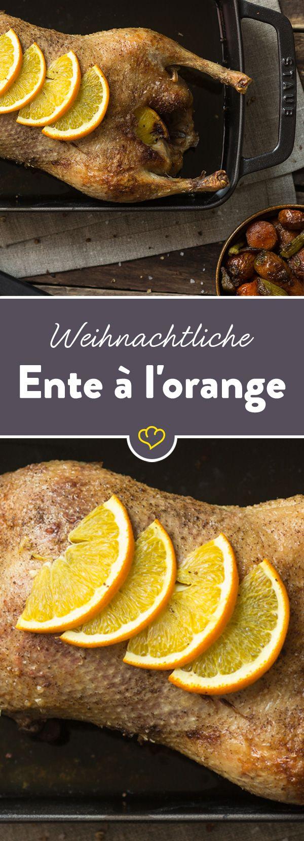 Ein richtiger Festschmaus: Die knusprige Ente in fruchtiger Orangensauce ist so köstlich, dass du sie dir nicht nur zu Weihnachten wünschst.