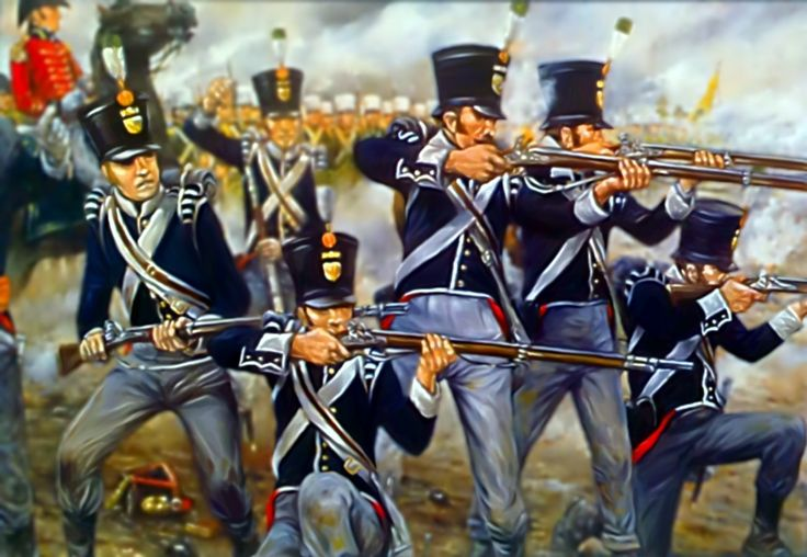 Dutch infantry at the Battle of Waterloo