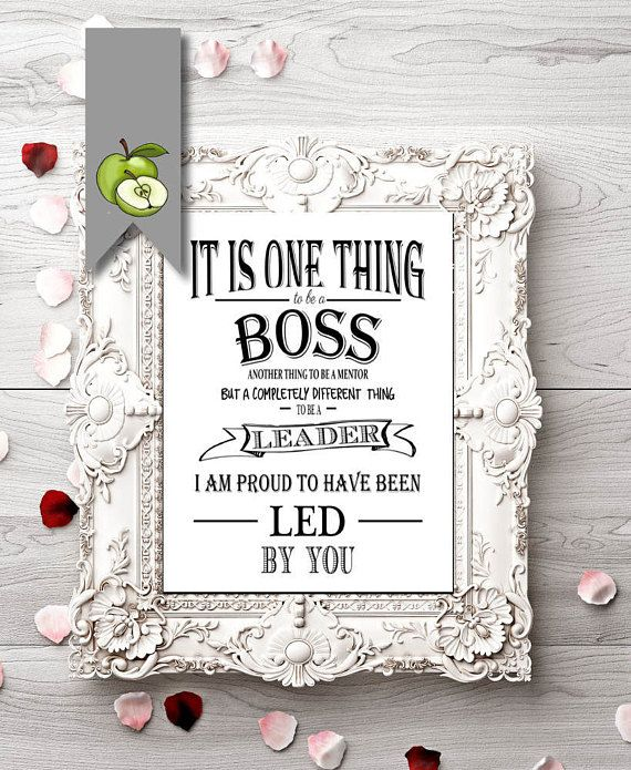 Digital Boss Thank You Gift Best Boss Appreciation Gift Boss Week Mentor Leader Digital Download File Retirement Leaving Gift Work Gifts Appreciation Gift Gifts For Boss