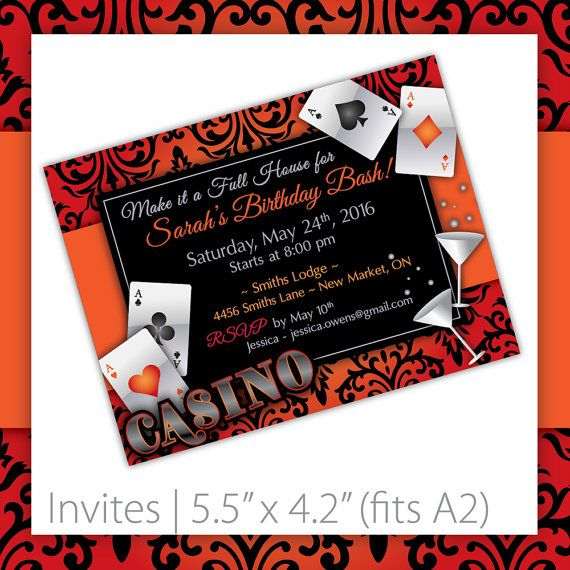 115 best casino party printables images on pinterest | party, Party invitations