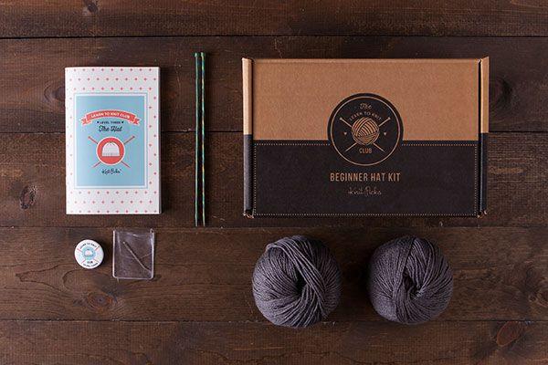 Learn to Knit Club, Level 3: Hat - Grey  *Afflink*