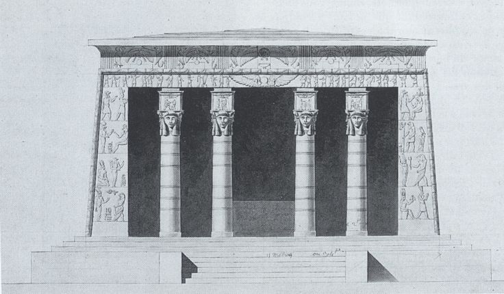Plan and elevation of the temple which once stood at place des