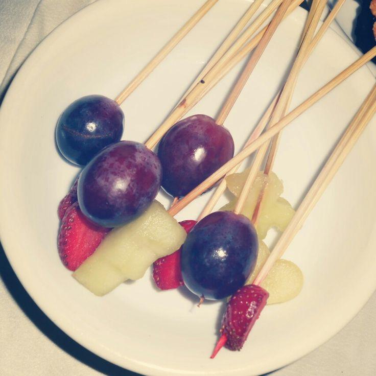 Grape, strawberry, starfruit