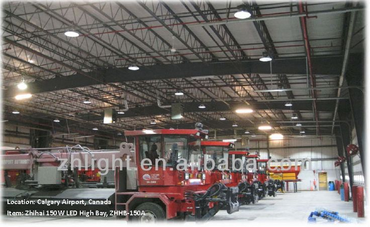 Calgary International Airport (YYC), Calgary, Alberta, Canada. Model: ZHHB-150A 150w LED High Bay Light