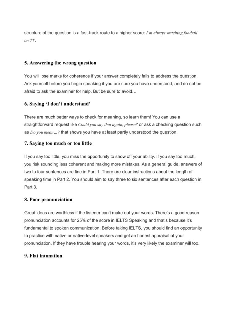 Top 10 speaking mistakes page 2