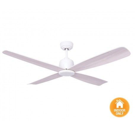 Airfusion Fraser DC Fan Only in White | Ceiling Fans No Lights | Ceiling Fans | Fans