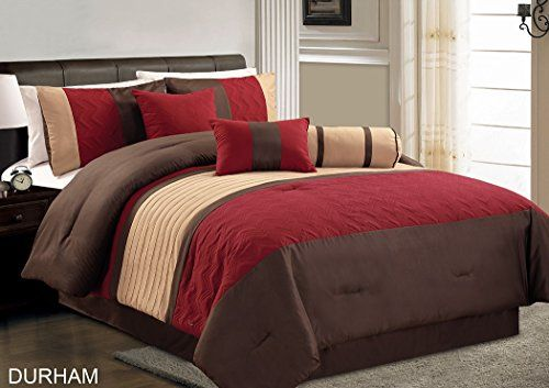 Chezmoi Collection Durham 7 Piece Pleated Quilting Bedding