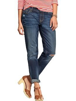 Old Navy Womens The Boyfriend Skinny AnkleJeans