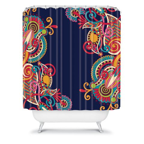 Juliana Curi Mix Pattern 1 Shower Curtain