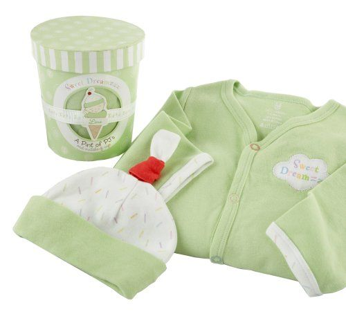 Baby Aspen Sweet Dreamzzz Pint of PJ's Sleep Time Gift Set, 0-6 Months, Lime