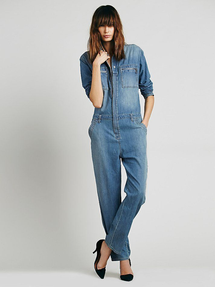 Free people lost in time chambray one piece at free people for Chambre one piece