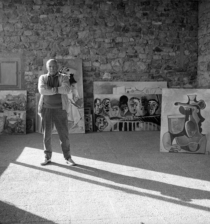 Pablo Picasso photographed by Cecil Beaton, 1965, At His Home In Mougins.