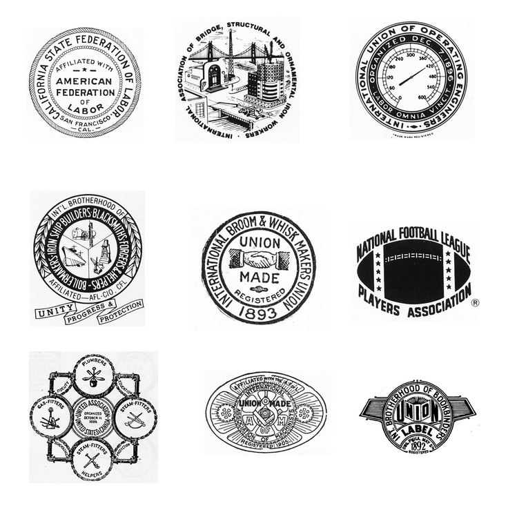 Look for the Union label is an interesting collection of North American Union logos and emblems.