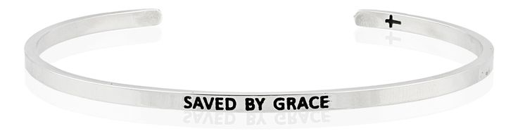 Saved By Grace bracelet by FaithfulBand    The word 'grace' means unmerited favour, a gift that you don't deserve or can work for. We live because Christ died for us. Rejoice, carry your cross and count your blessings.   For it is by grace you have been saved, through faith--and this is not from yourselves, it is the gift of God not by works, so that no one can boast. – Ephesians 2:8-9 (NIV)   Available now - http://www.faithfulband.com/