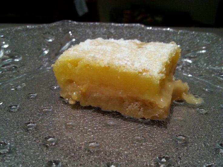 Lemon Bars. Divine. Recipe on my sweet snacks and dessert board.